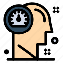 dashboard, head, human, mind, thinking icon