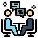 chat, communication, dissucation, meeting, user icon