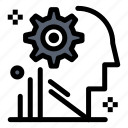 gear, mind, process, setting, user icon