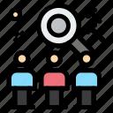job, rescource, search, team, user icon