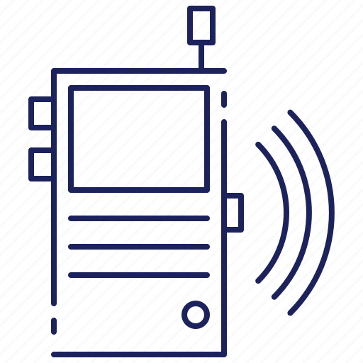 communication, portable, radio, talkie, technology, transceiver, walkie icon