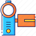 camcorder, camera, handycam, recorder, tape, technology, video icon