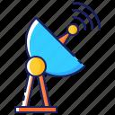 antenna, communication, dish, parabolic, receiver, satellite, signal icon