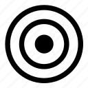 direction, focus, mark, point, shot, target icon