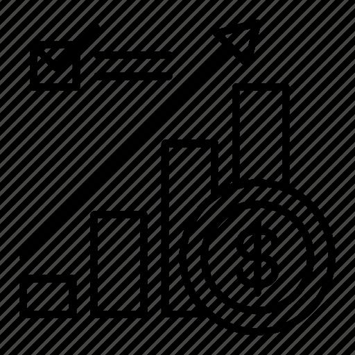 analytics, bar chart, business, profits, sales, statistics, stats icon