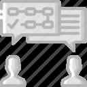 communication, hr, human, resources, task, tasking icon