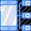hr, human, mobile, resources, task, tasking icon