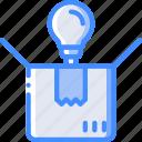 box, hr, human, outside, task, tasking, think icon