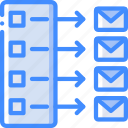hr, human, list, mailing, resources, task, tasking icon