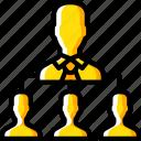 delegation, hr, human, resources, task, tasking icon