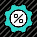 discount, offer, sale, setting, cogwheel