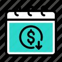 tax, date, calendar, dollar, money