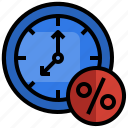 money, duration, time, tax icon