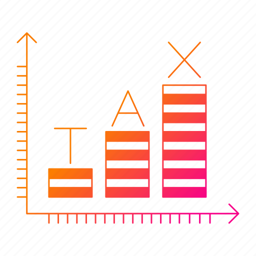 chart, data, invoice, report, taxes, vat icon