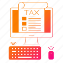 computer, device, invoice, management, taxes, vat icon