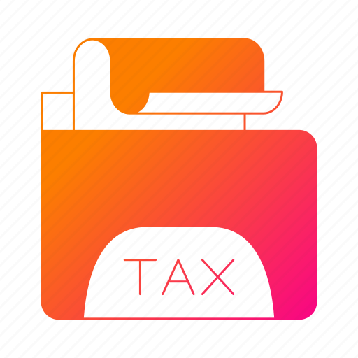document, folder, invoice, tax, vat icon
