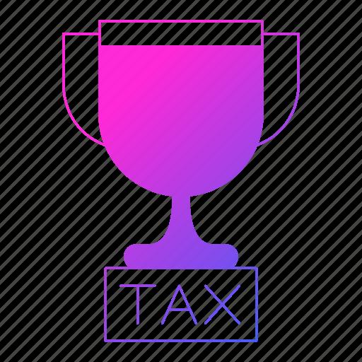 invoice, reward, tax, trophy, vat icon