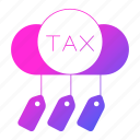 cloud, invoice, taxes, vat icon