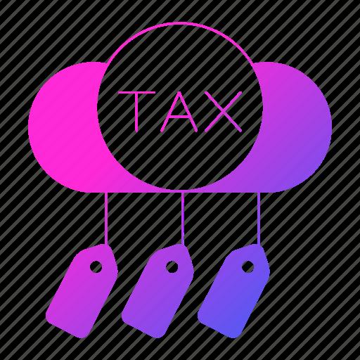 cloud, invoice, taxes, vat icon