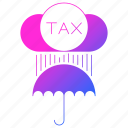 invoice, protection, tax, umbrella, vat icon