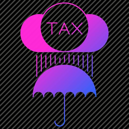 invoice, protection, tax, umbrella, vat icon