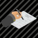 account, accounting, bank, cartoon, invoice, isometric, tax