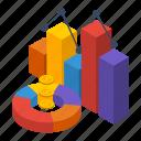 bar, cartoon, chart, financial, graph, isometric, statistic