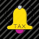 alarm, invoice, notification, percent, tax, vat icon