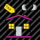 estate, house, invoice, percent, tax, vat icon