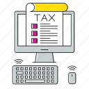 computer, device, invoice, management, percent, taxes, vat icon