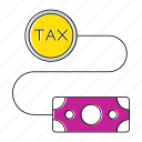 invoice, money, percent, taxes, vat icon