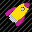 invoice, launch, percent, rocket, tax, vat icon