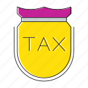invoice, percent, protection, shield, tax, vat icon