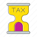 hourglass, invoice, percent, timer, vat icon