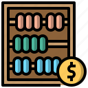 abacus, and, business, calculating, finance, mathematical icon