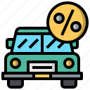 automobile, car, taxes, transport, transportation, vehicle icon