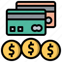 and, business, card, credit, finance, method, payment icon