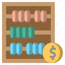 abacus, and, business, calculating, education, finance, mathematical icon