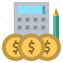 accounts, and, banking, business, finance, finances, money icon