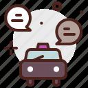 cab, car, city, conversations, transport
