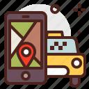 car, city, map, taxi, transport