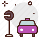 car, city, stop, transport, uber icon