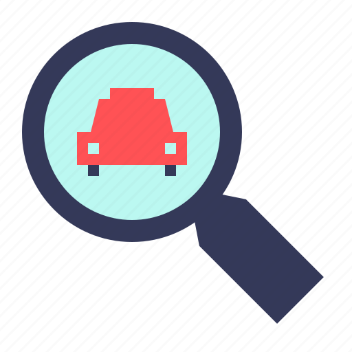 Find, glass, magnifier, magnifying, search, taxi, zoom icon - Download on Iconfinder