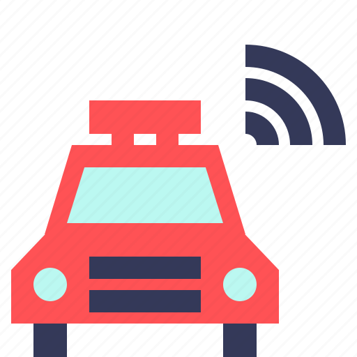 car, connection, network, signal, taxi, wifi, wireless icon