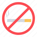 allowed, cigarette, not, smoking, stop icon