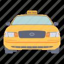 cab, car, services, taxi icon
