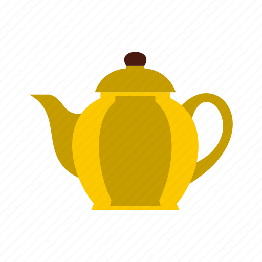 brown, drink, pot, pottery, tea, teapot, utensil icon
