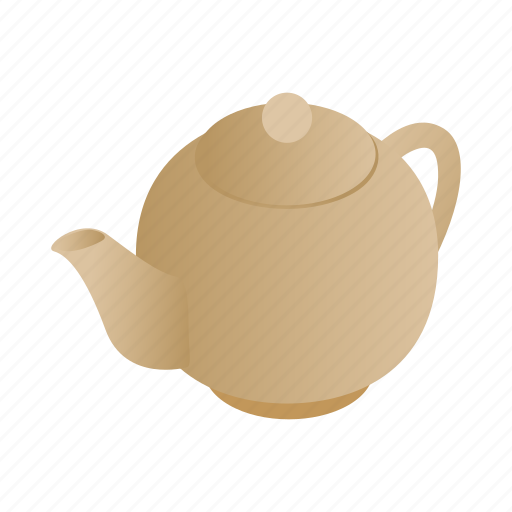 drink, graphic, isometric, pot, tea, teapot, utensil icon