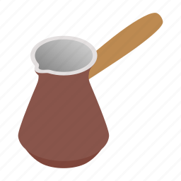 breakfast, cezve, coffee, drink, pot, sometric, turkish icon
