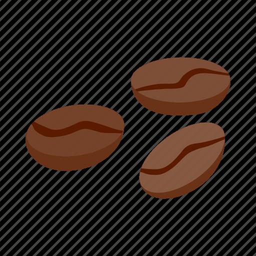 aroma, bean, beverage, brown, caffeine, coffee, isometric icon